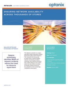 Optanix Ensures Network Availability for Major National Retailer