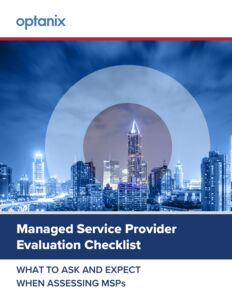 Managed Service Provider Evaluation Checklist