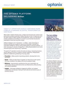 Optanix AIOps Product Brief
