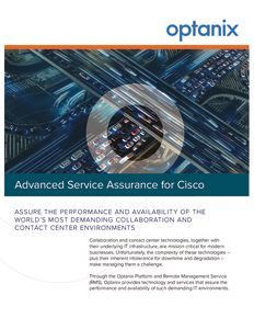 Optanix Advanced Service Assurance for Cisco