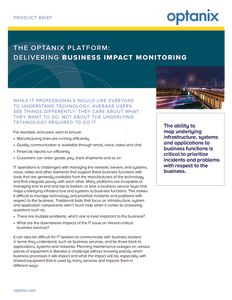 Optanix Business Impact Monitoring (BIM) Product Brief