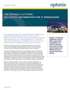 Optanix Execution Framework Product Brief