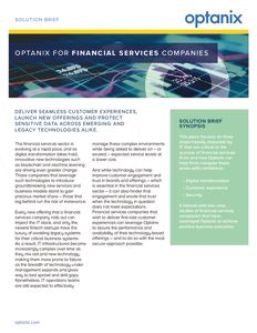 Financial Services Solution Brief