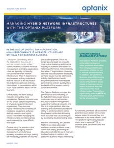 Hybrid Network Infrastructure Solution Brief