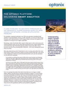 Optanix Smart Analytics Product Brief