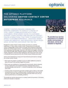 Unified Contact Center Enterprise Product Brief
