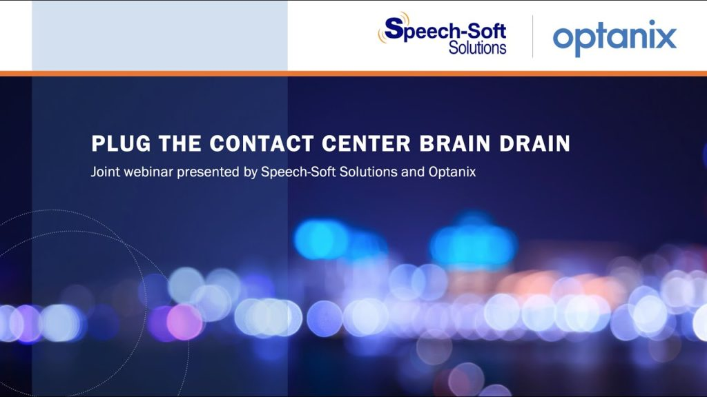 Webinar: Plug the Contact Center Brain Drain